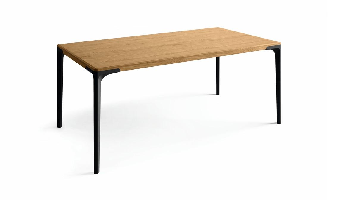 hülsta Esstisch T 70 im Maß 180 x 95 cm in der Ausführung Eiche