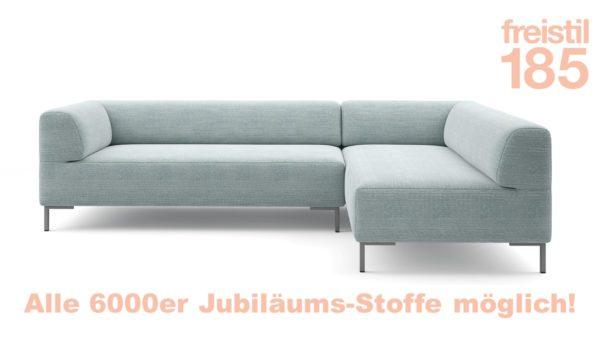Gestalte Dein freistil 185 Sofa in der Bestseller-Edition. Du hast die Wahl aus verschiedenen Jubilaeums-Stoffen!
