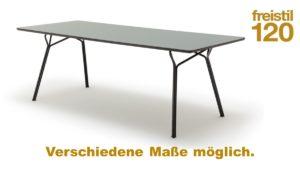 Gestalte Deinen freistil 120 Esstisch in der Version mit Fenix-Platte in unserem Konfigurator.