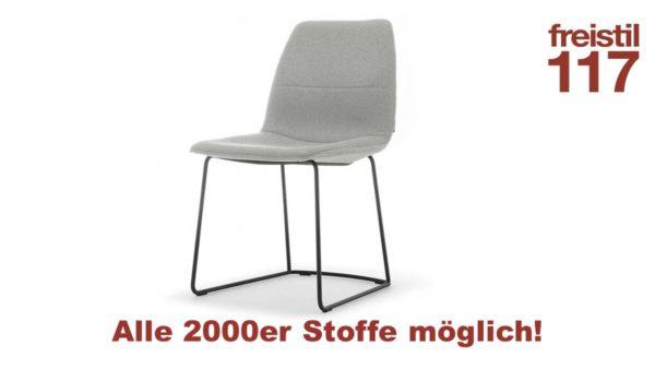 freistil 117 Stuhl in allen 2000er Bezugs-Stoffen konfigurierbar