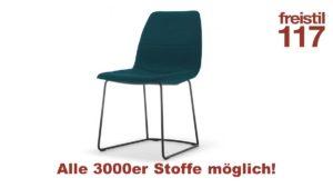 freistil 117 Stuhl in allen 3000er Stoffen konfigurierbar