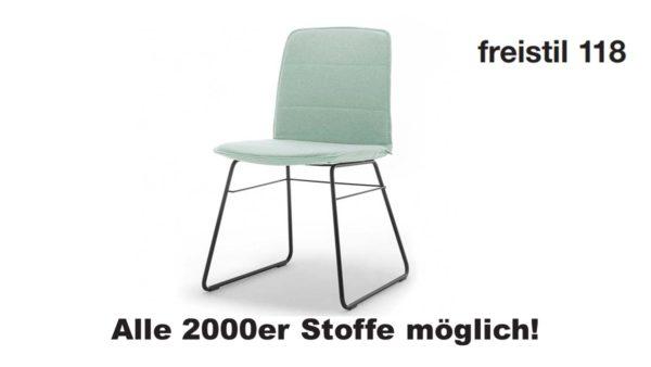 freistil 118 Stuhl in allen 2000er Stoffen konfigurierbar