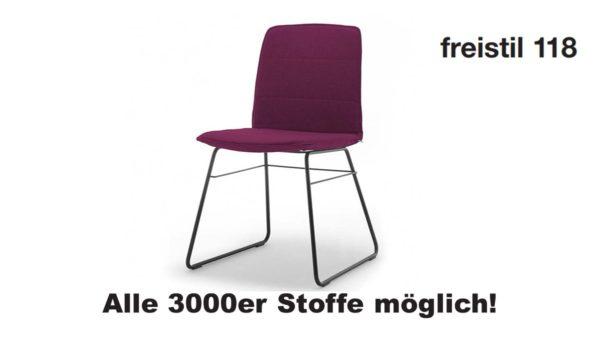 freistil 118 Stuhl in allen 3000er Stoffen konfigurierbar