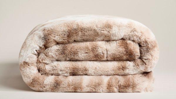 Star Home Textil Decke Marmor creme #40097