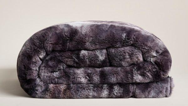 Star Home Textil Decke Marmor grau #40096