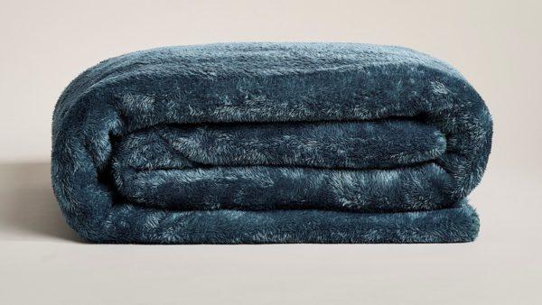 Star Home Textil Sherpa-Decke Yarla petrol - Artikel-Nr 40108