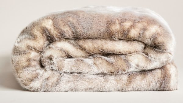 Star Home Textil Webpelz-Decke Silberfuchs #40094