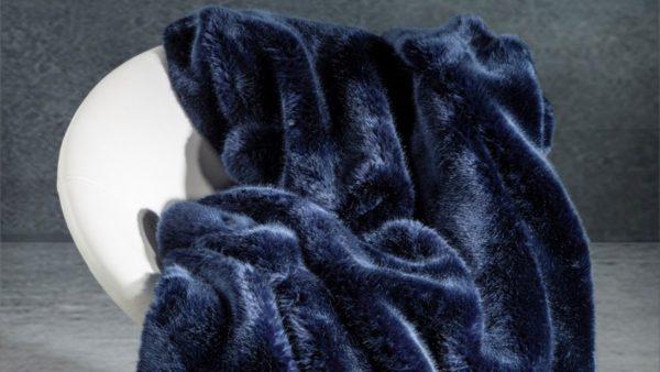 Star Home Textil Webpelz-Decke Zobel in blau