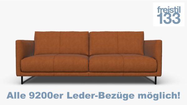 freistil 133 Sofabank jetzt im 9200er Leder online konfigurieren.