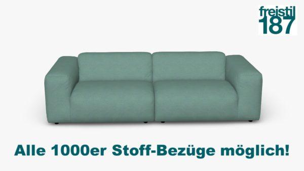 freistil 187 Sofabank in der Breite 260 cm Alle 1000er Stoff-Bezüge möglich!